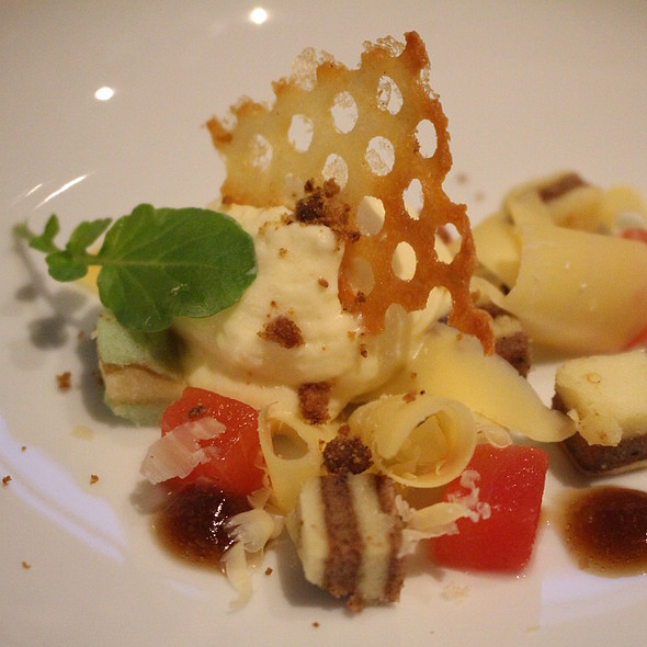 Old cheese, watermelon, bacon and balsamic @ By Ruben van Dieten