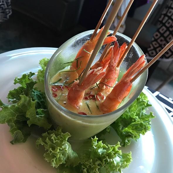 Curried Shrimps On Skewers