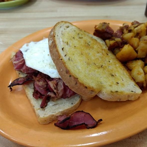 Pastrami Breakfast Sandwich @ The Spoon
