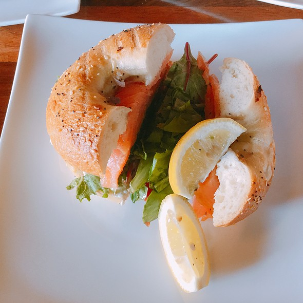 Smoked Salmon Bialy Sandwich