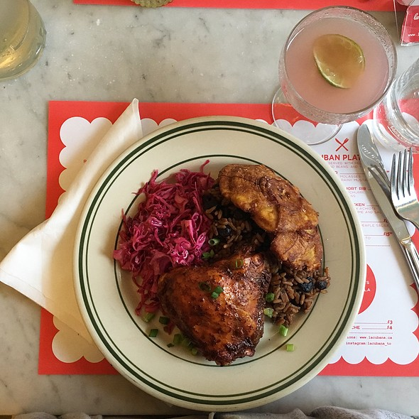 Achiote Roasted Chicken Plate @ La Cubana