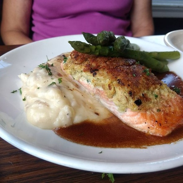Artichoke Crusted Salmon @ Michael's