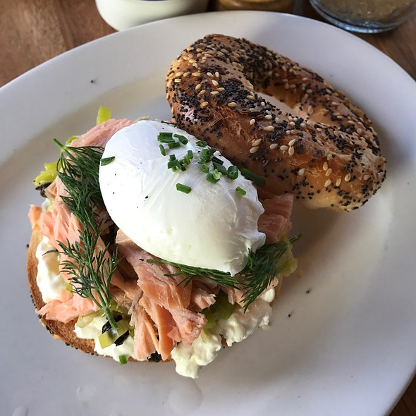 Smoked Salmon Bagel @ Gnome Cafe