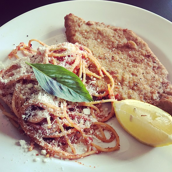 Veal Milanese With Tomato And Basil Pasta