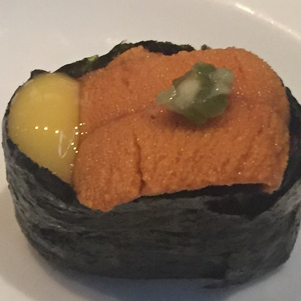Uni With Quail Egg @ Elephant Sushi