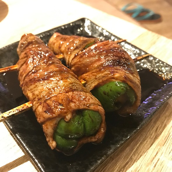 Grilled Pork Green Pepper Cheese