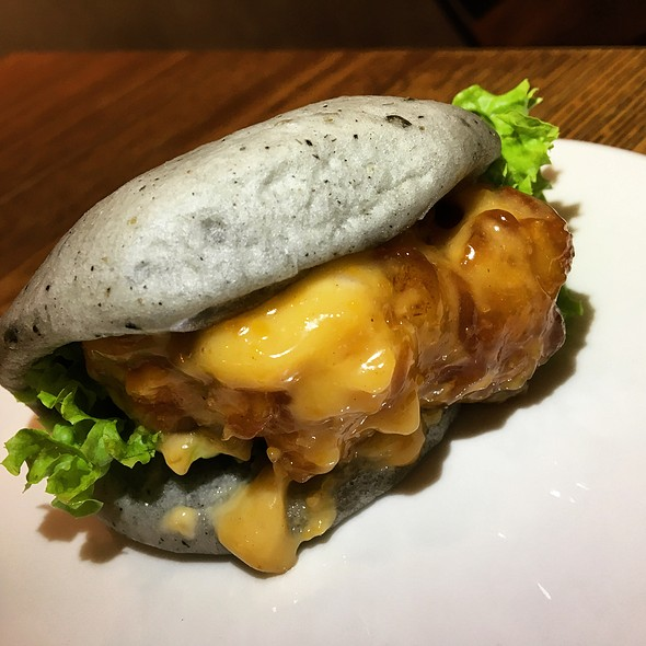 Salted Egg Chicken Bao  @ THE BAO MAKERS