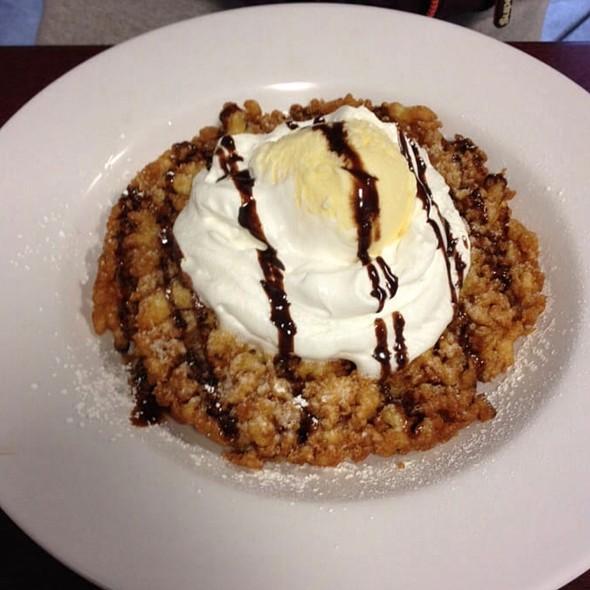Orginal Funnel Cake With Whip Cream & Vanilla Ice Cream