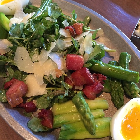 Asparagus Salad With Pancetta And Six Minute Egg @ Kendall's Brasserie & Bar
