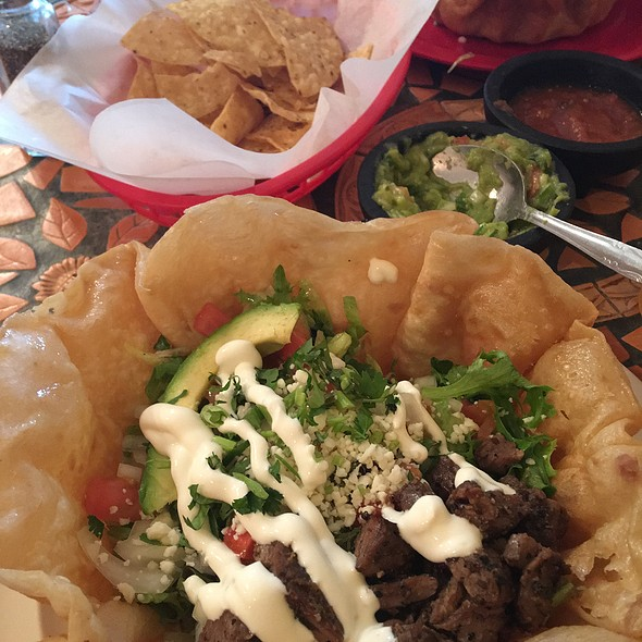Taco Salad with Steak @ Lil Gio's Taqueria