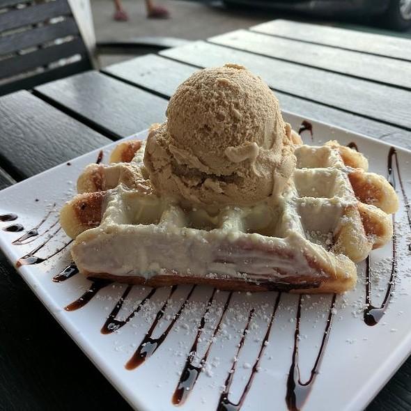 Belgium Waffle w/ Coffee Gelato