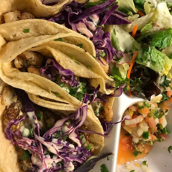 fish tacos @ Poblano's Mexican Grill