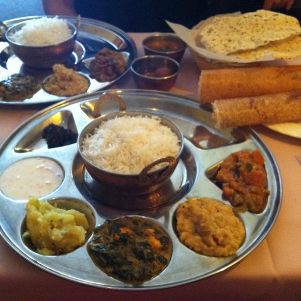 Vegetable Thali @ Dosa Garden Indo Lankan Restaurant