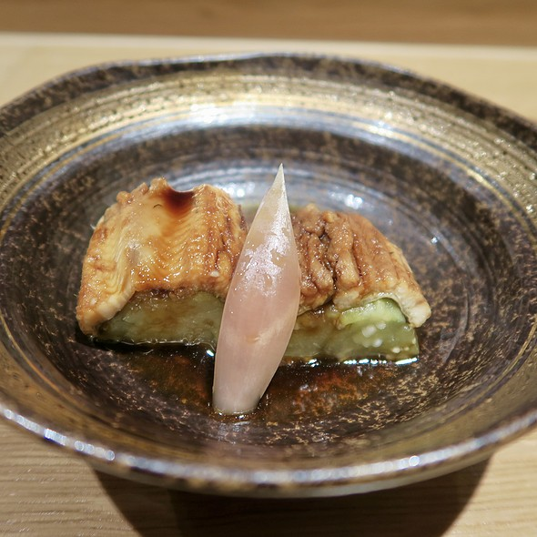 Chilled Anago with Pickled Ginger and Japanese Cucumber