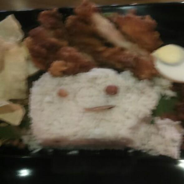 Nasi Pandan Chicken Chop