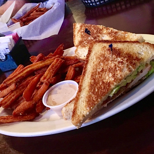 Chicken Club Sandwich & Sweet Potato Fries  @ The Sand Trap Sports Bar & Grill