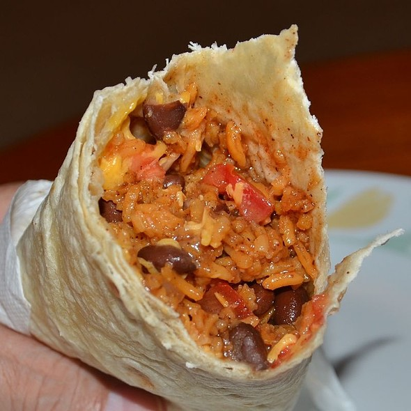 Rice and Bean burrito