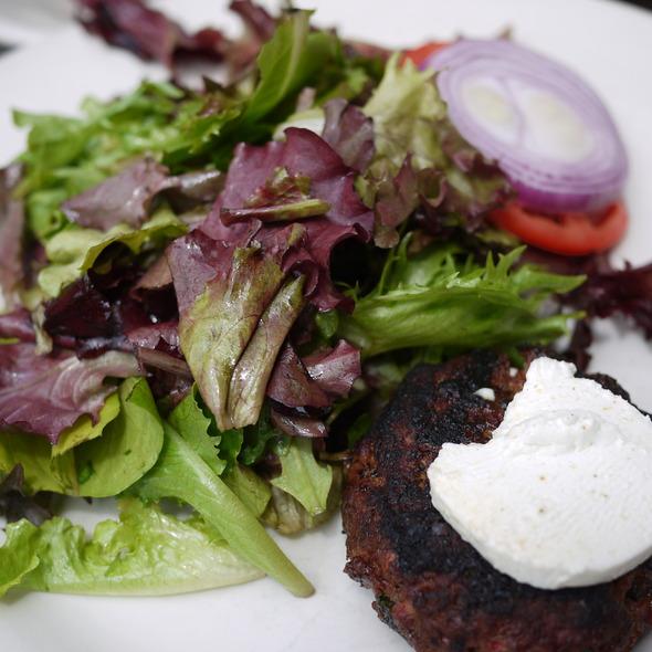 Spicy Lamb Burger @ Chez Oskar