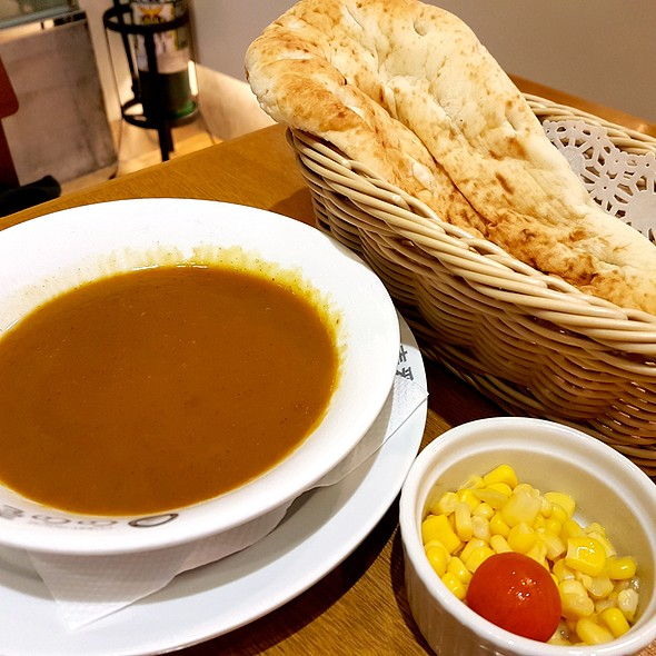 Naan Bread with Curry Sauce @ Coco Ichibanya Curry House