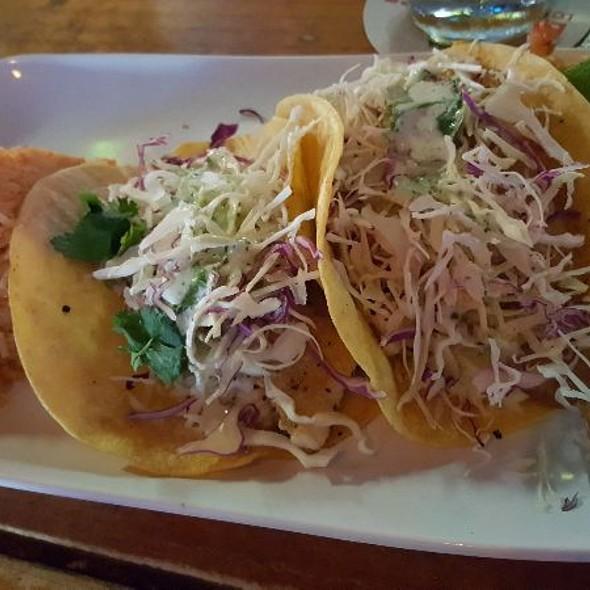 Grilled Fish Tacos @ Sams Boat