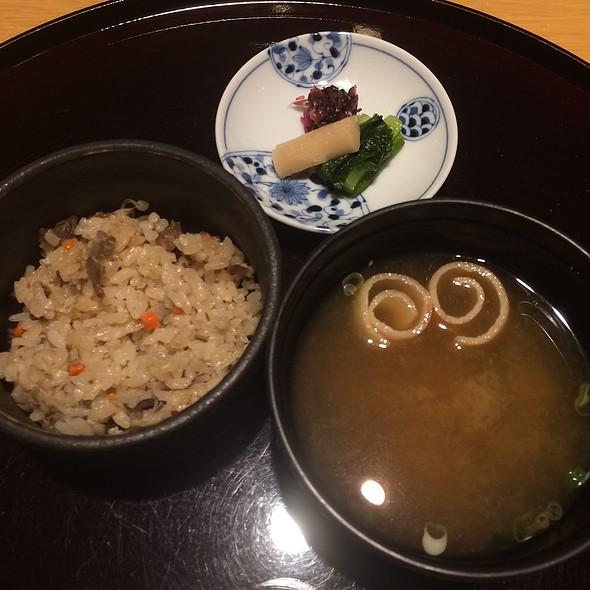 Takikomi Gohan, Pickles & Miso Soup