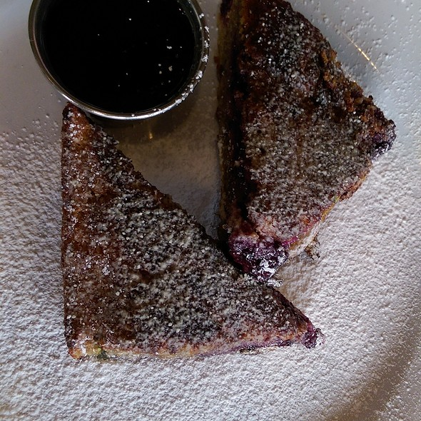Blackberry cornbread french toast