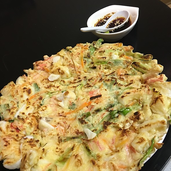 Korean Seafood Pancake @ The Rice Bowl