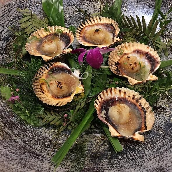 Baked scallops @ Mikado Sushi