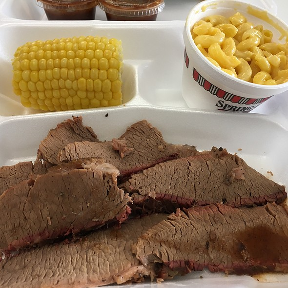 Brisket Lunch @ Spring Creek Barbeque