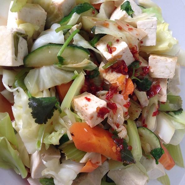 Stir Fry Vegetables With Tofu And Sambal Sauce