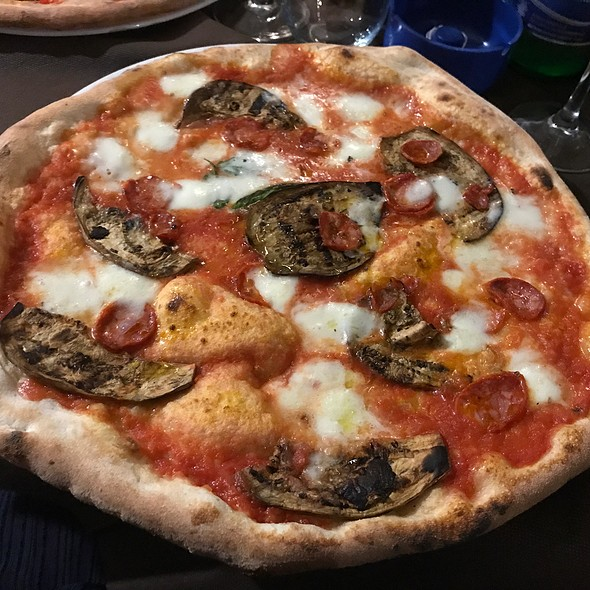 Pizza With Eggplants And Salami @ D'aprile & D'aprile