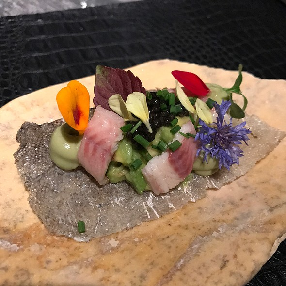 Smoked French Eel, Caviar, Avocado Dips Crackers