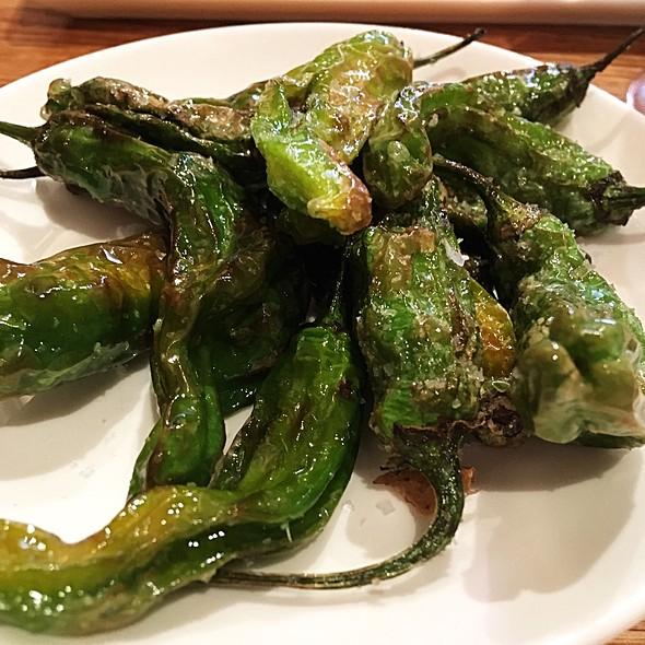 Pimientos Shishito Peppers With Coarse Sea Salt @ Tia Pol (tapas)