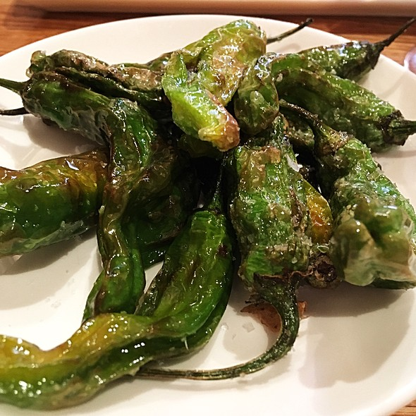 Pimientos Shishito Peppers With Coarse Sea Salt @ Tia Pol (tapas)