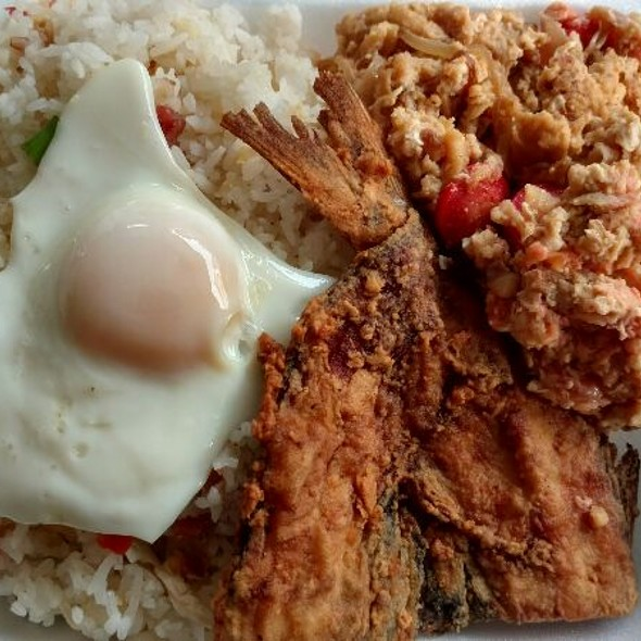 Fried Fish with Filipino Scrambled Eggs