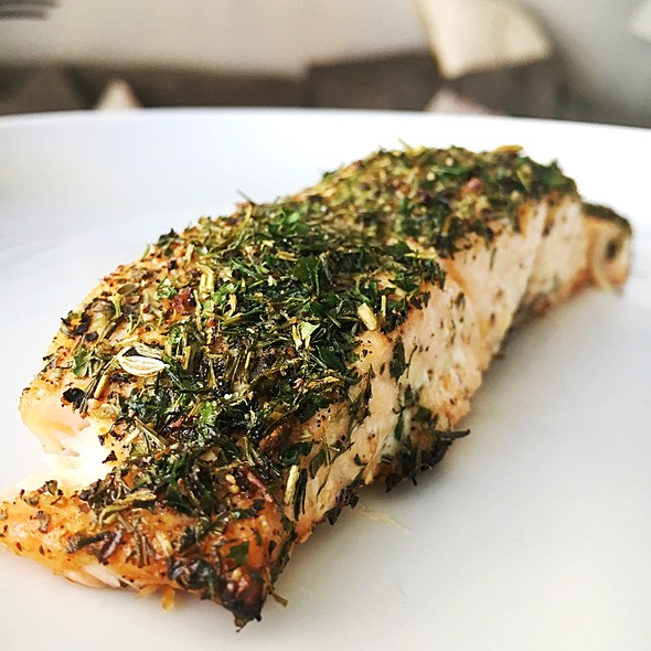 Herb Crusted Salmon @ Fresco Cafe