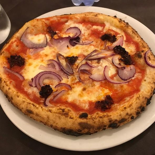 Pizza With Tropea Onion, Nduja And Tuna @ Ristorante Pizzeria Porta Nova