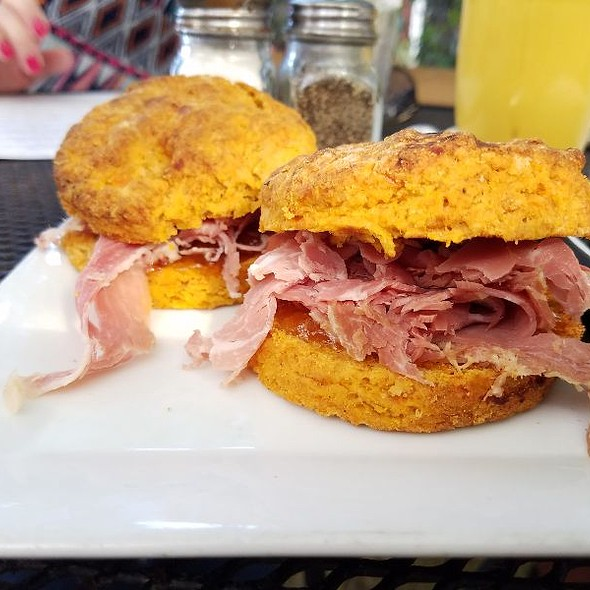 Sweet Potato Biscuits With Surry Ham