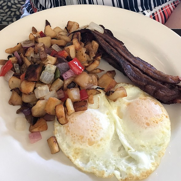 Bacon and eggs @ The Black Marlin Bar & Seafood Grill