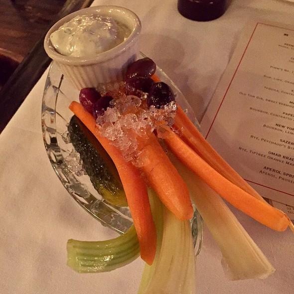 Crudités & Blue Cheese Dip @ Keens Steak House