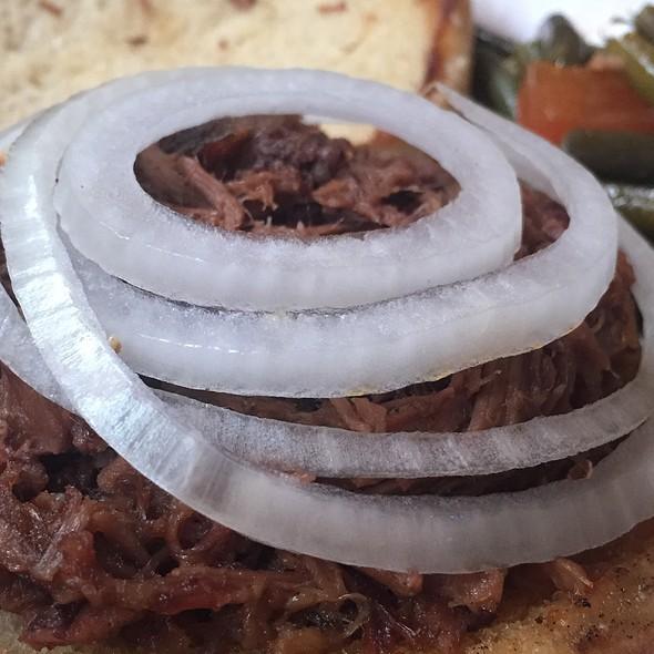 Chopped Brisket Sandwich @ Augie's Barbed Wire Smoke House