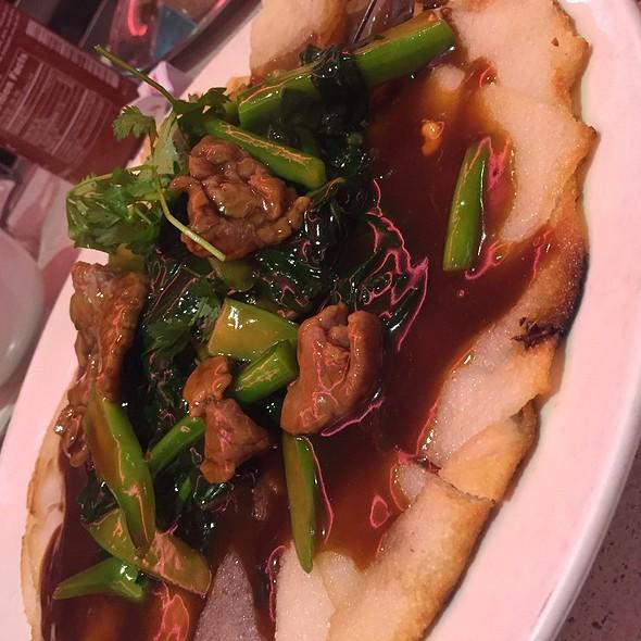 Crispy Flat Noodles @ Tan Tan Restaurant