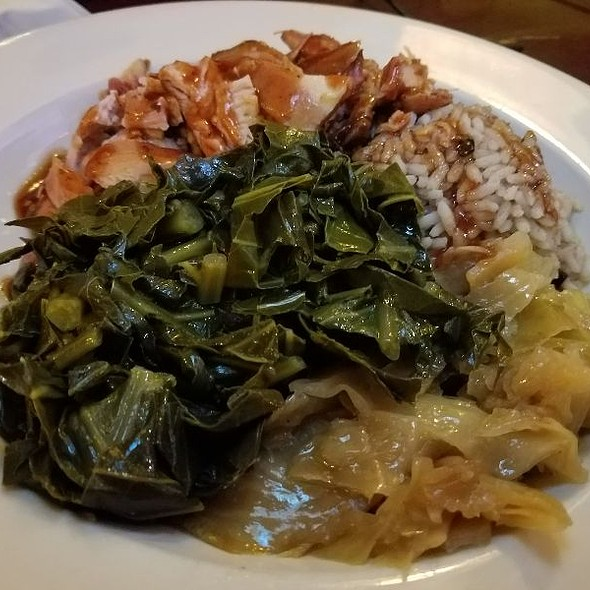 Jerk Chicken With Collards And Cabbage