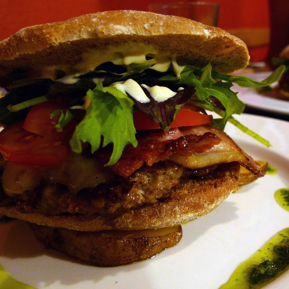 Beef and Bacon Burger @ Revel Cafe