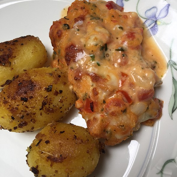 Halibut Topped With Tomato & Cheese @ Home Sweet Home Sir Aqua
