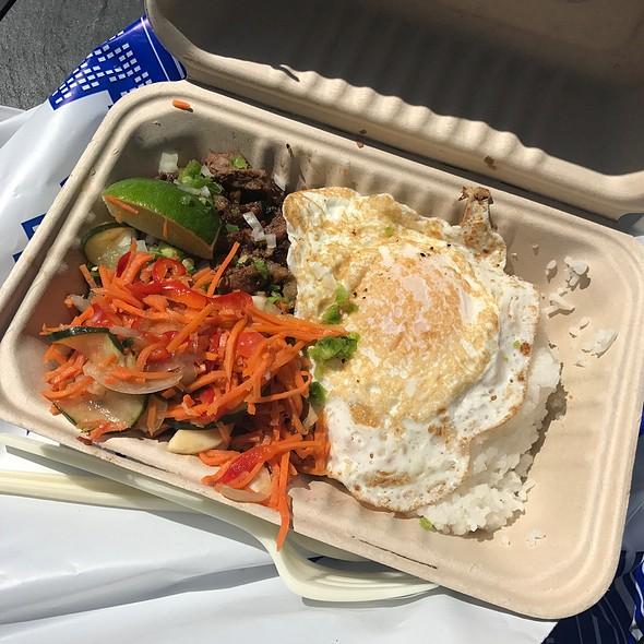 Pork Sisig With Rice @ Senor Sisig