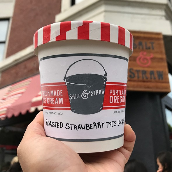 Roasted Strawberry Tres Leches @ Salt & Straw