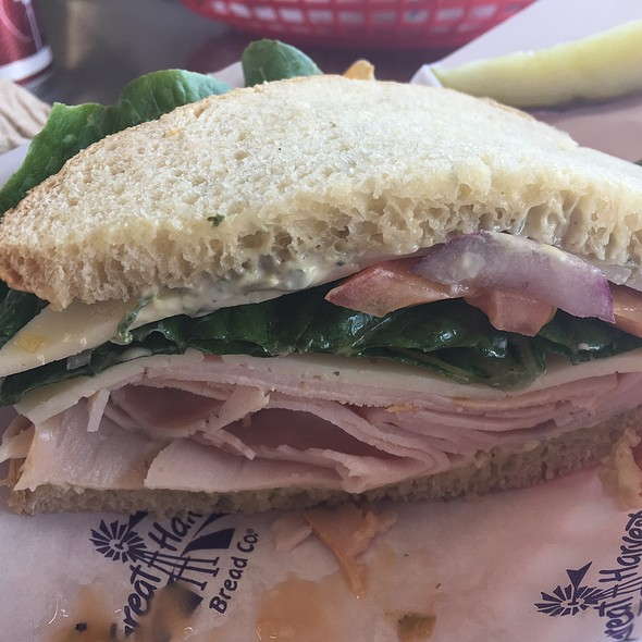 Turkey Sandwich On Farmhouse White @ Great Harvest Bread Co. Fort Worth