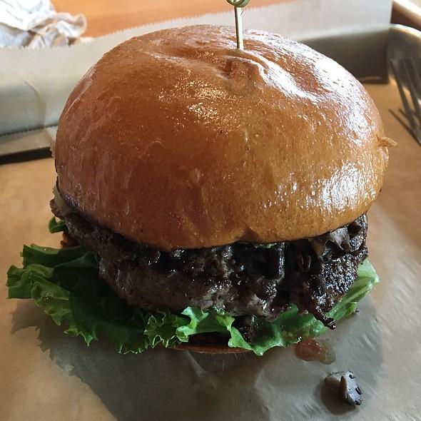magic mushroom burger @ Hopdoddy Burger Bar