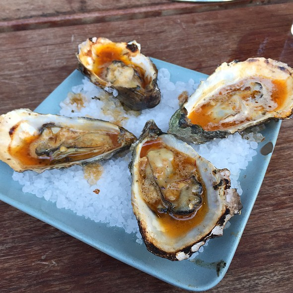 Chipotle Bourbon Grilled Oysters @ Hog Island Oyster Co.